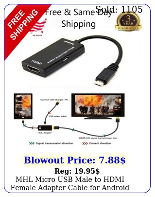 mhl micro usb male to hdmi female adapter cable android smartphone tablet t