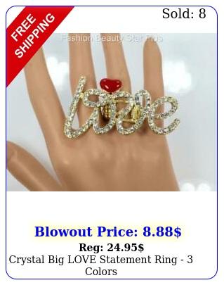 crystal big love statement ring  color