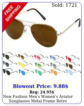 fashion men's women's aviator sunglasses metal frame retro vintage pilo