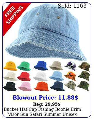 bucket hat cap fishing boonie brim visor sun safari summer unisex cotto