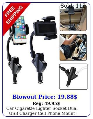 car cigarette lighter socket dual usb charger cell phone mount holder universa