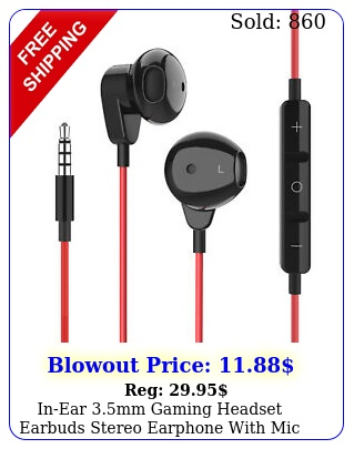 inear mm gaming headset earbuds stereo earphone with mic phone pc lapto