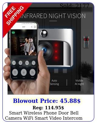 smart wireless phone door bell camera wifi smart video intercom ring doorbel