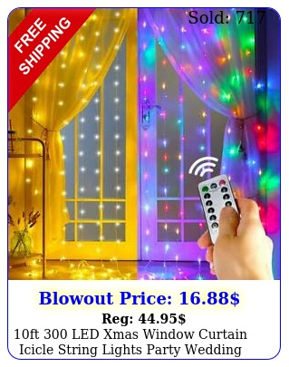 ft led xmas window curtain icicle string lights party wedding wall deco