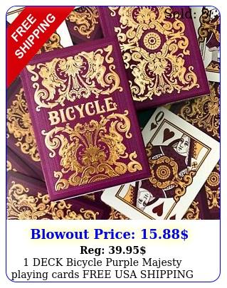 deck bicycle purple majesty playing cards free usa shippin