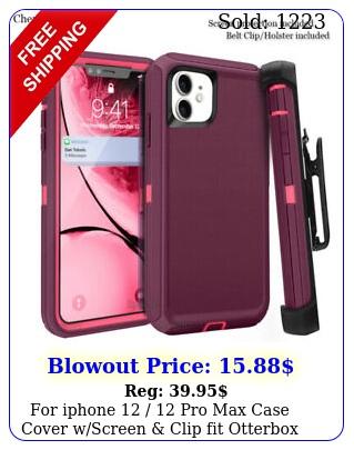 iphone  pro max case cover wscreen clip fit otterbox defende