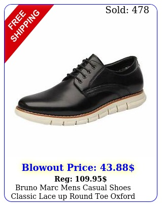 bruno marc mens casual shoes classic lace up round toe oxford formal dress shoe