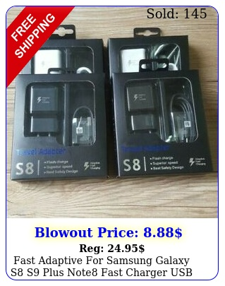 fast adaptive samsung galaxy s s plus note fast charger usb typec cabl