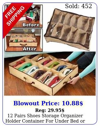 pairs shoes storage organizer holder container under bed or closet u