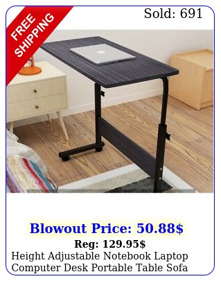 height adjustable notebook laptop computer desk portable table sofa bed tra