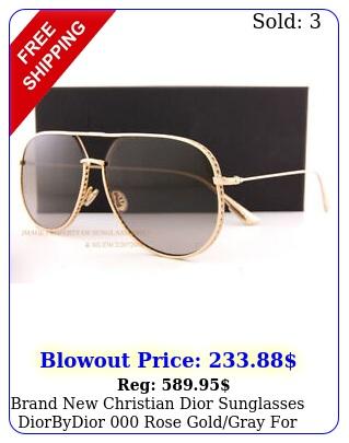brand christian dior sunglasses diorbydior rose goldgray wome