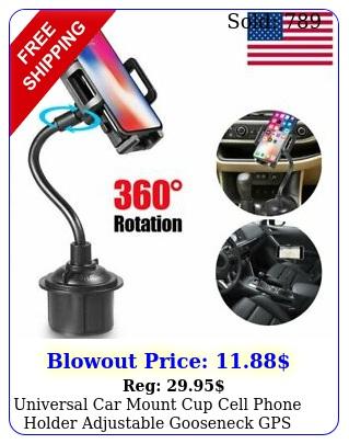 universal car mount cup cell phone holder adjustable gooseneck gps stand cradl