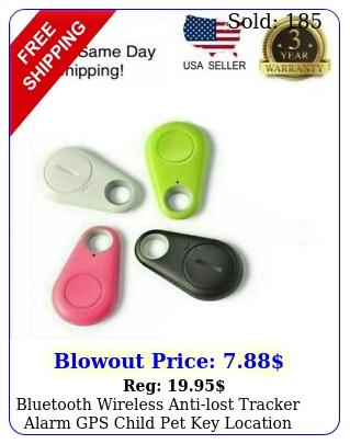 bluetooth wireless antilost tracker alarm gps child pet key location finder u