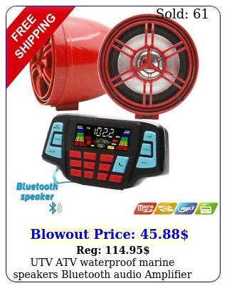 utv atv waterproof marine speakers bluetooth audio amplifier us stoc