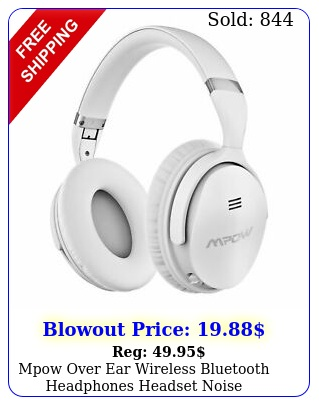 mpow over ear wireless bluetooth headphones headset noise cancelling foldabl