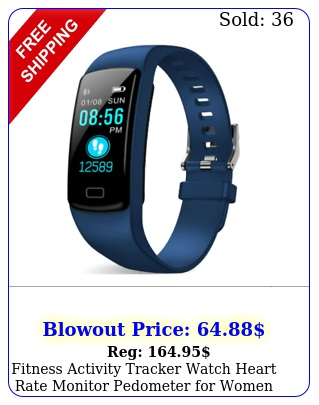 fitness activity tracker watch heart rate monitor pedometer women men ho