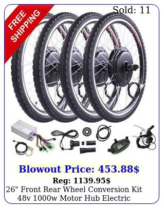 front rear wheel conversion kit v w motor hub electric bicycle e bik