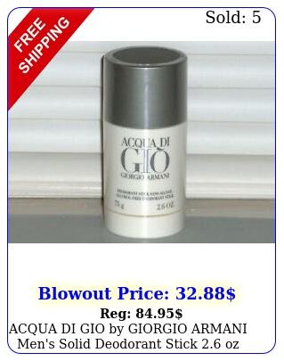acqua di gio by giorgio armani men's solid deodorant stick oz g seale