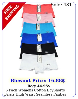 pack womens cotton boyshorts briefs high waist seamless panties underwea