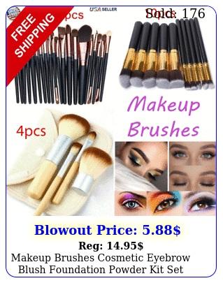 makeup brushes cosmetic eyebrow blush foundation powder kit set pro beaut