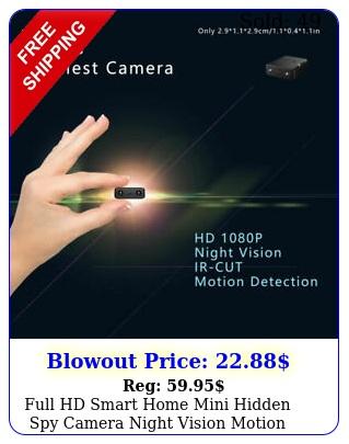 full hd smart home mini hidden spy camera night vision motion security dvr ca