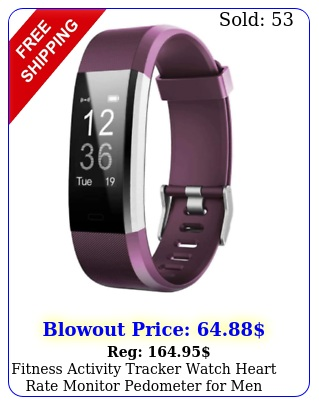 fitness activity tracker watch heart rate monitor pedometer men wome