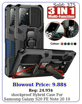 shockproof hybrid case samsung galaxy s fe note  plus ultra cove