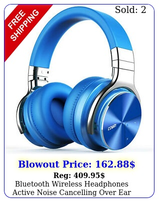 bluetooth wireless headphones active noise cancelling over ear comfortable cowi
