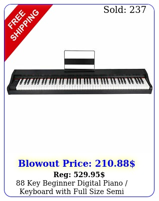 key beginner digital piano keyboard with full size semi weighted key