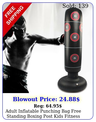 adult inflatable punching bag free standing boxing post kids fitness trainin