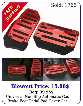 universal nonslip automatic gas brake foot pedal pad cover car accessories eo