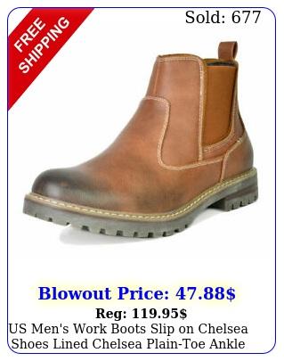 us men's work boots slip on chelsea shoes lined chelsea plaintoe ankle boot