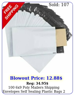 x poly mailers shipping envelopes self sealing plastic bags mi