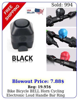bike bicycle bell horn cycling electronic loud handle bar ring battery alar
