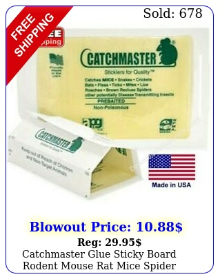 catchmaster glue sticky board rodent mouse rat mice spider snake insect tra