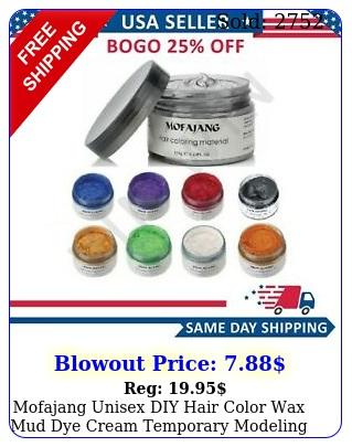 mofajang unisex diy hair color wax mud dye cream temporary modeling color