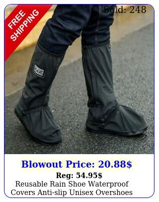 reusable rain shoe waterproof covers antislip unisex overshoes boots sxx