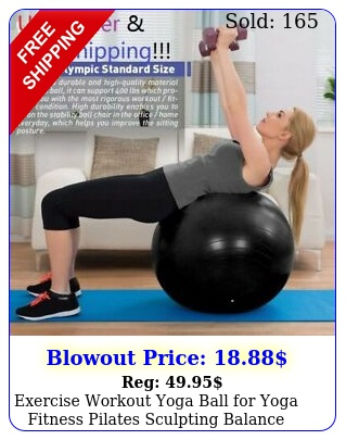 exercise workout yoga ball yoga fitness pilates sculpting balance with pum
