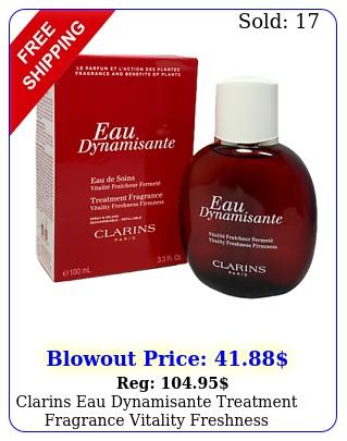 clarins eau dynamisante treatment fragrance vitality freshness firmness m