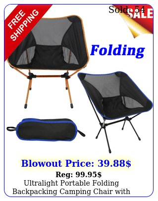 ultralight portable folding backpacking camping chair with storage bag us stoc
