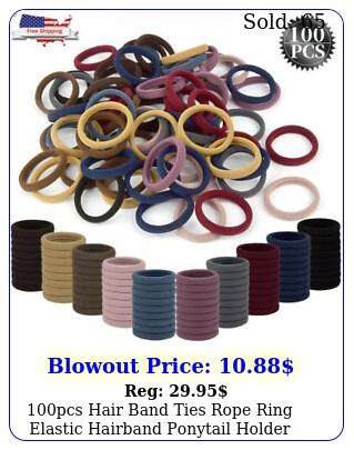 pcs hair band ties rope ring elastic hairband ponytail holder women girl