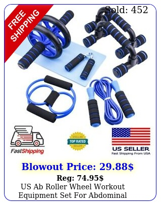 us ab roller wheel workout equipment set abdominal exercise home gym fitnes