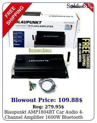 blaupunkt ampbt car audio channel amplifier w bluetooth full range am