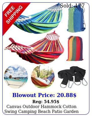 canvas outdoor hammock cotton swing camping beach patio garden hanging chair be