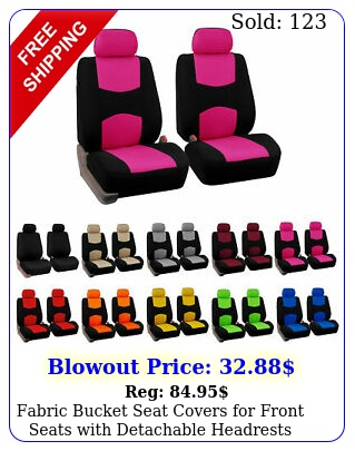 fabric bucket seat covers front seats with detachable headrest