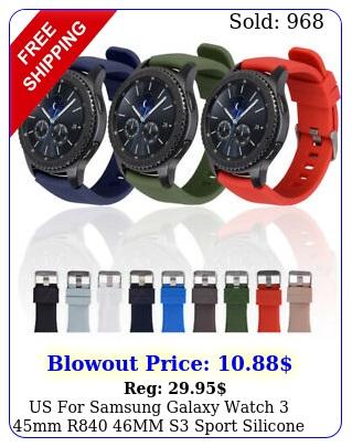 us samsung galaxy watch mm r mm s sport silicone watch band stra
