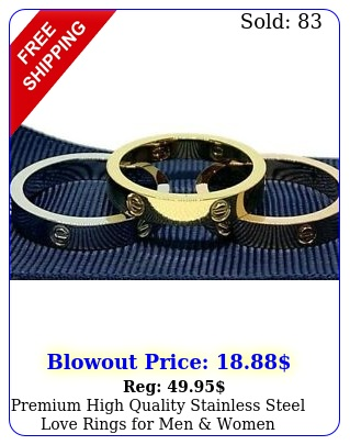 premium high quality stainless steel love rings men wome
