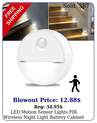 led motion sensor lights pir wireless night light battery cabinet stair led lam