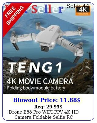 drone e pro wifi fpv k hd camera foldable selfie rc quadcopter aerial phot