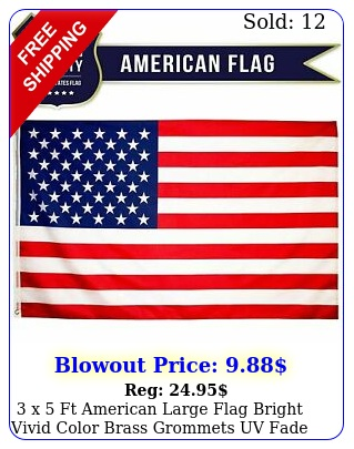 x ft american large flag bright vivid color brass grommets uv fade resistan